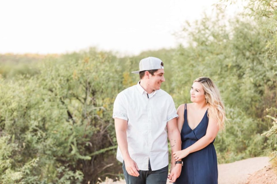playful engagement session in phoenix