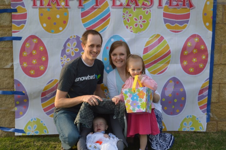 Our family at the easter egg hunt