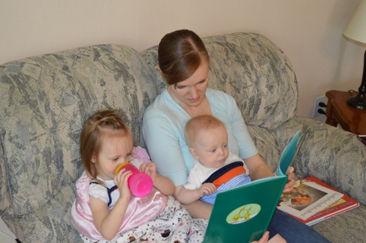 Reading stories with mommy