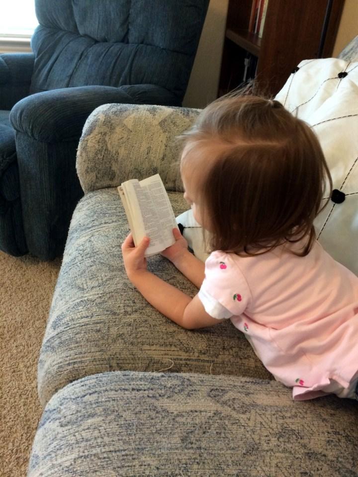 """Eliza calls these little scriptures her """"scripture power"""" scriptures."""