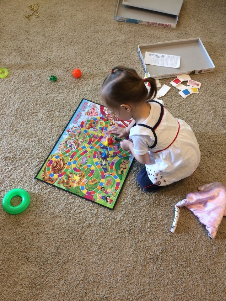 Eliza will get really excited about playing Candy Land and then lose interest after 10 minutes or so. Oh to be 2!