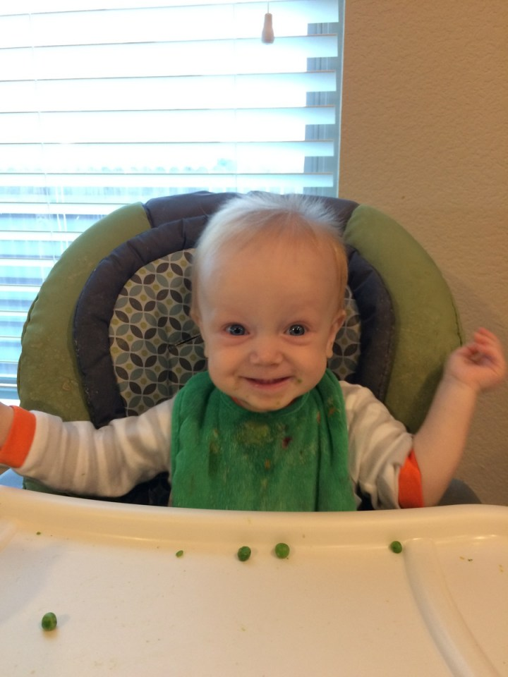James likes his peas!