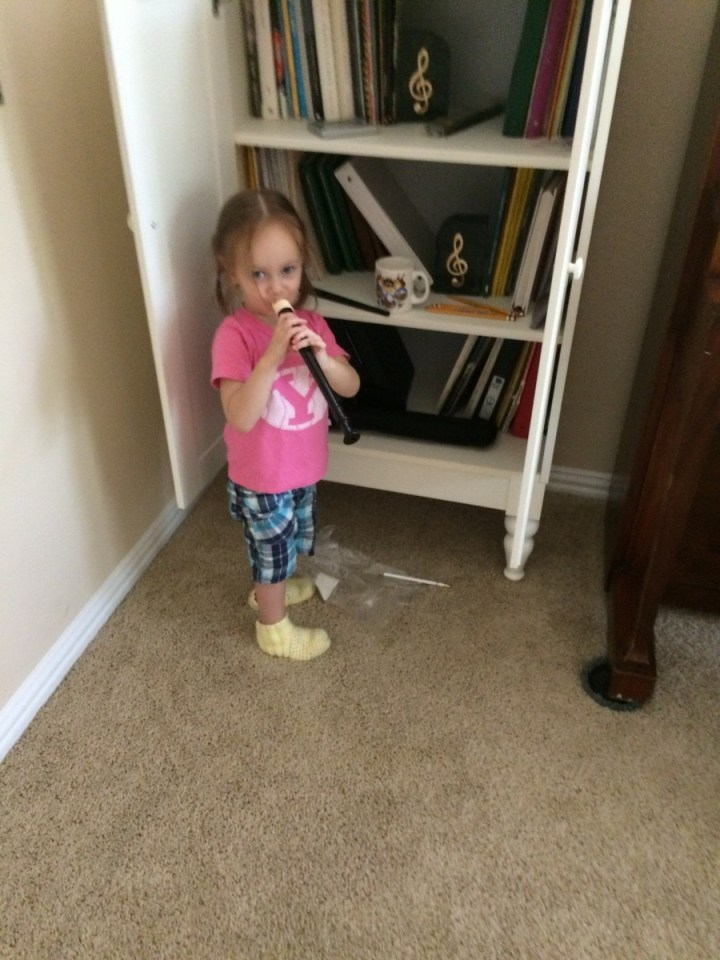 Eliza found the recorder