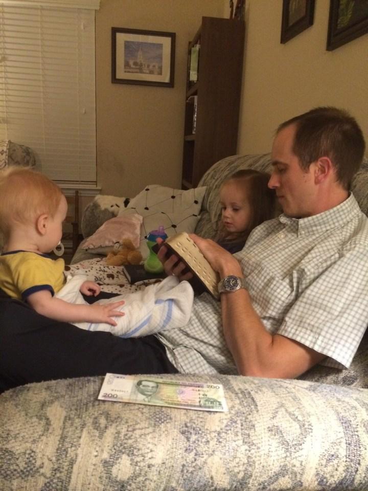 Family scripture study.