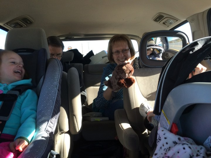Grandma and Grandpa Arnesen drove with us from Texas to Utah. They were great with the kids.