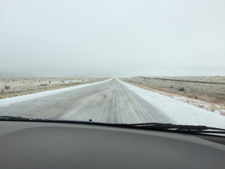 We had some bad weather on our way back to Texas. We had icy roads into and out of Santa Rosa, New Mexico. We decided to go the long way around through Fort Stockton instead of trying to go through Lubbock in an ice storm.