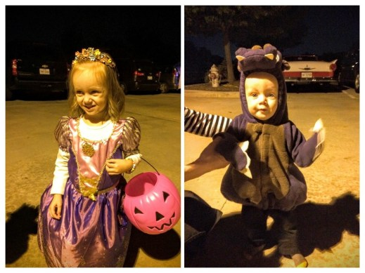 Eliza and James at the ward trunk or treat