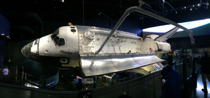 Space Shuttle Atlantis. What an inspiring site. Visiting here recommitted me to my goal of becoming an astronaut. I was getting chills the whole time I walked around this magnificent machine.