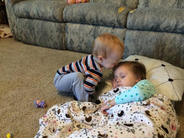 James kissing sleeping beauty.