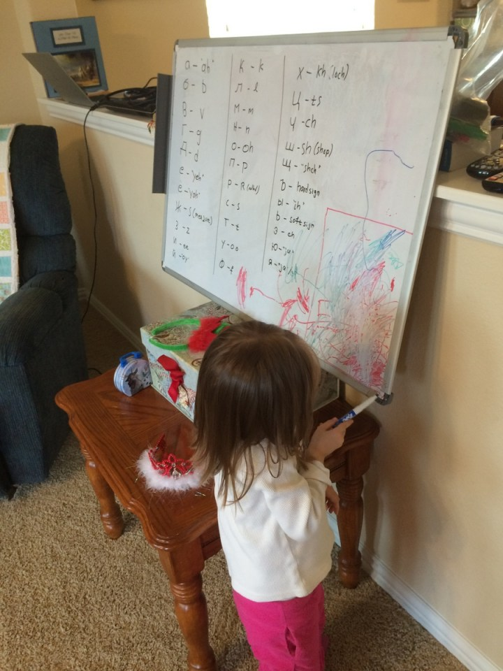02 Eliza coloring on the white board
