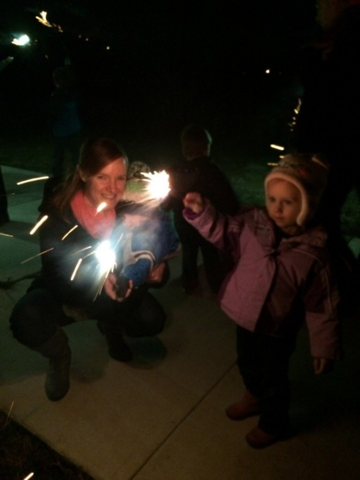 04 Sparklers on New Year's Eve