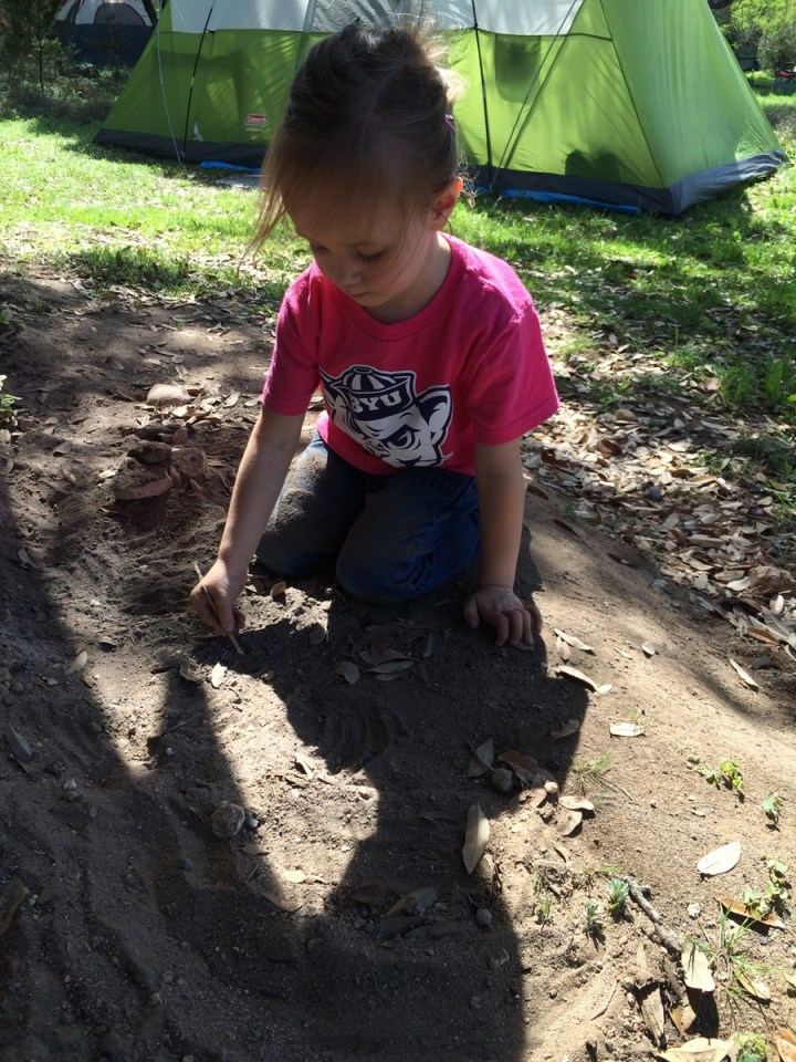 Eliza playing in the dirt
