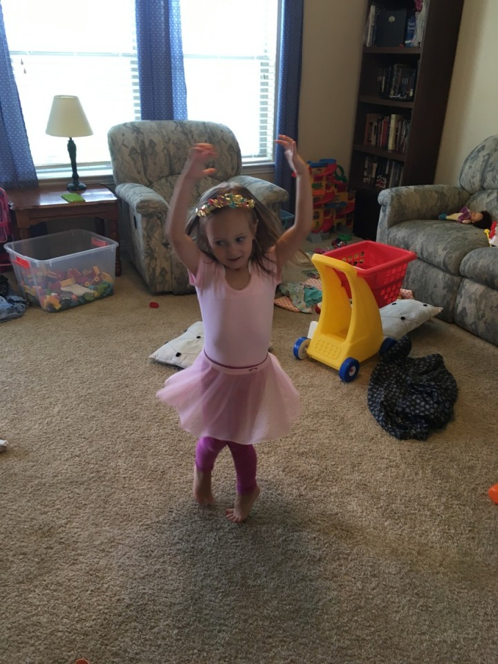 Eliza being a balerina