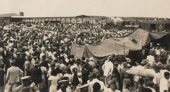População presente na inauguração da Estação 20 de abril de 1950