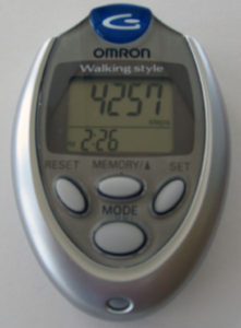 Use a pedometer to track your steps