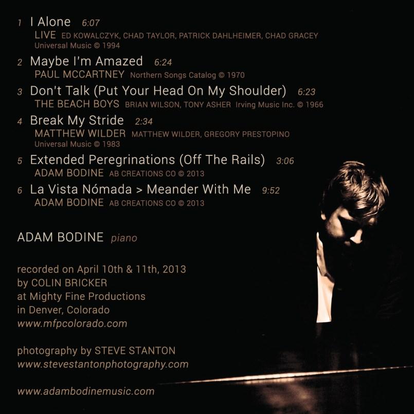 Adam Bodine - I Alone (inside cover)
