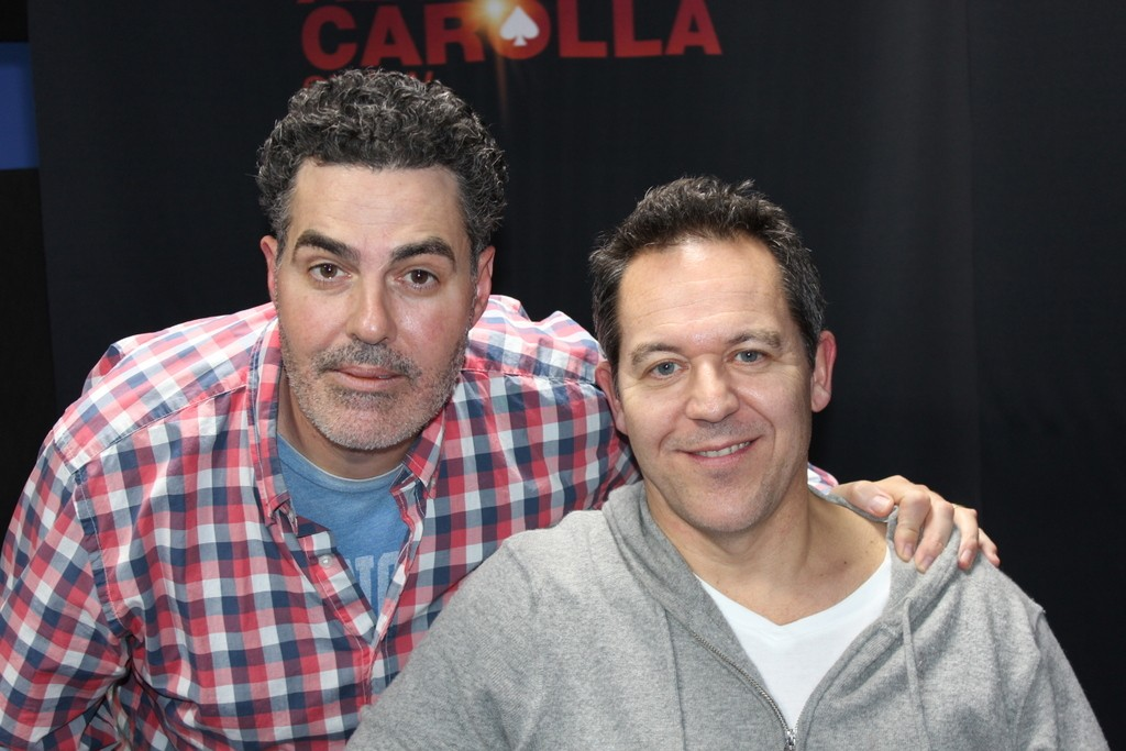 Adam Carolla with Greg Gutfeld
