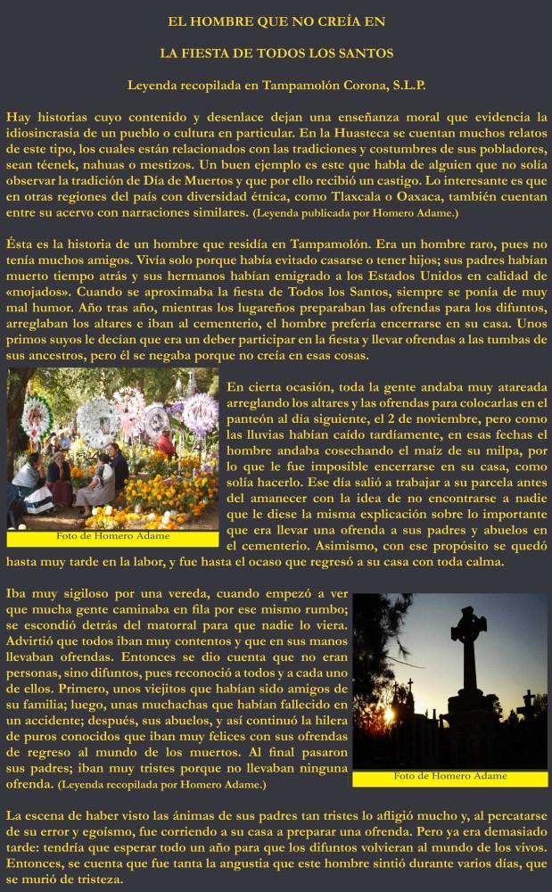 Mitos y leyendas de la Huasteca: Una leyenda de Día de Muertos (1/3)