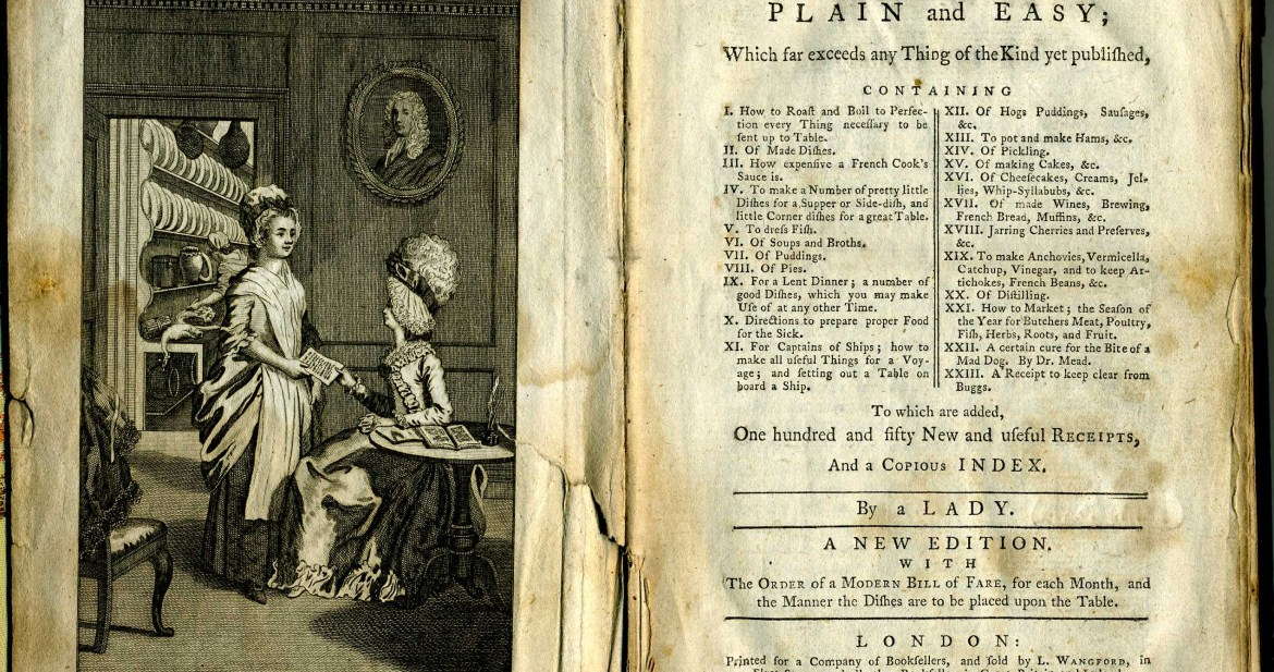 18th Century Kitchen: A look inside Hannah Glasse's 1765 cookbook