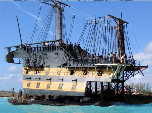 One of the many versions of Endeavor we made for POTC2/3. According to Andersen, it was basically the same ship as Dauntless, which was a 3/4 scale version of the real HMS Victory in England.
