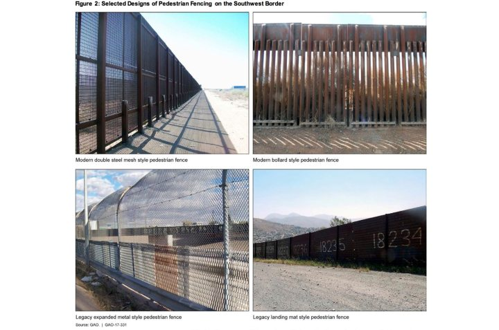 Photos of border fencing