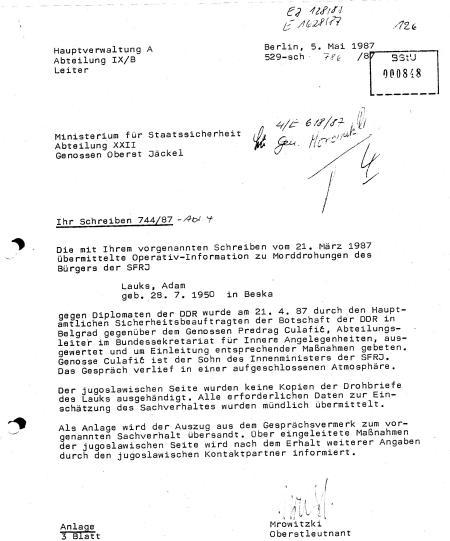 """Die schärfsten Aufklärer des Osten HVA Abteilung IX/B Leiter """"klärt auf """"!??"""