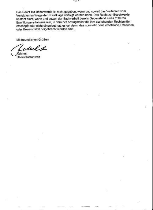 Anstiftung zur Folter im Amt vom 9.1.2013