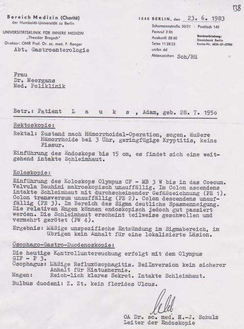 OA H.-J Schulz hat den Wunschbefund geliefert-Befehl von IM Nagel aiusgeführt