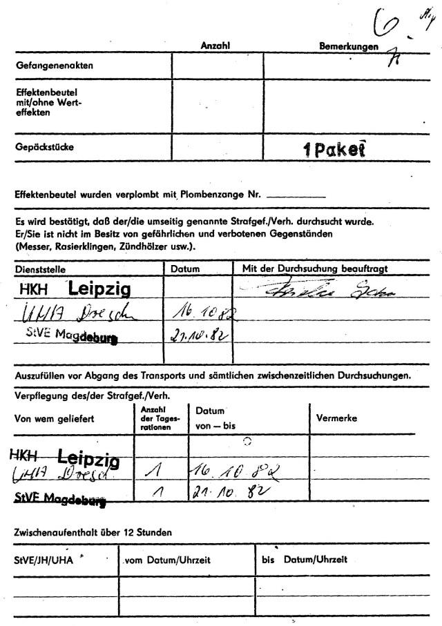Zersetzung von Adam Lauks 1982.10.16.