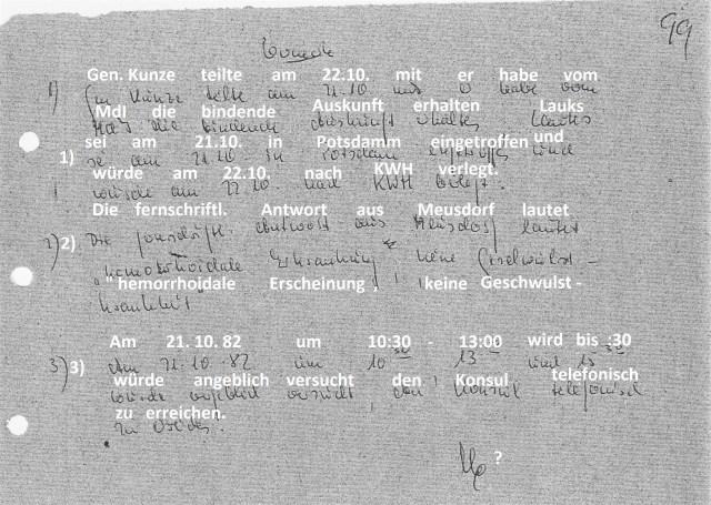 Zersetzung von Adam Lauks 1982.10.22.