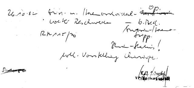 Zersetzung von Adam Lauks 1982.10.26.