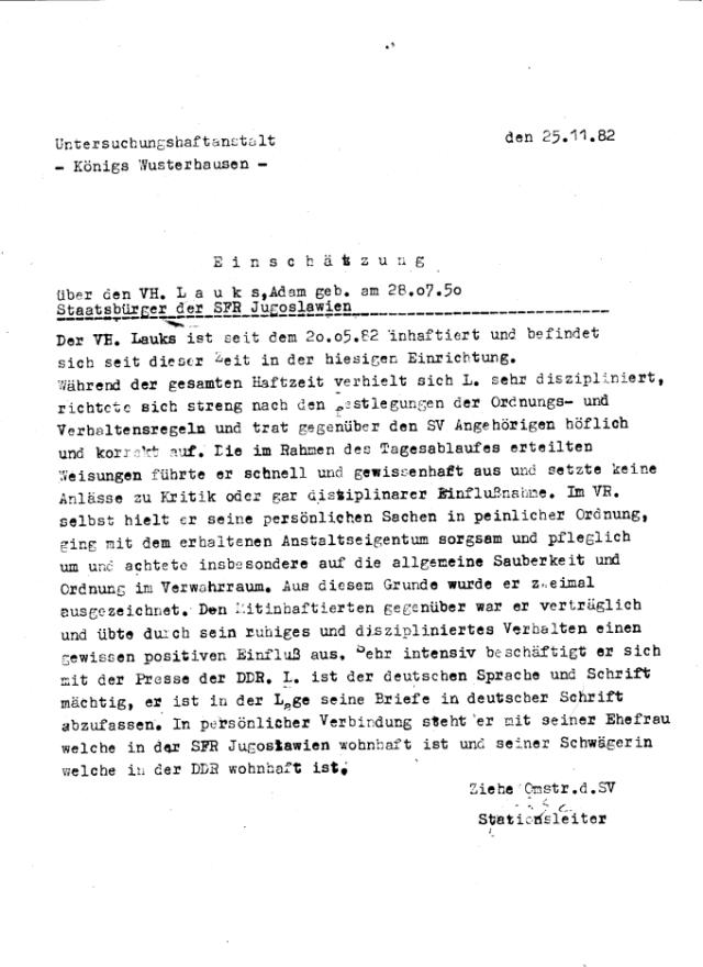 Zersetzung von Adam Lauks 1982.11.25.