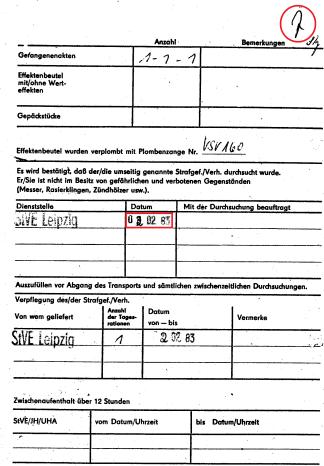 Zersetzung von Adam Lauks 1983.01.31.1