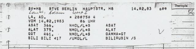Zersetzung von Adam Lauks 1983.02.14.