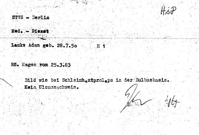 Zersetzung von Adam Lauks 1983.03.25.