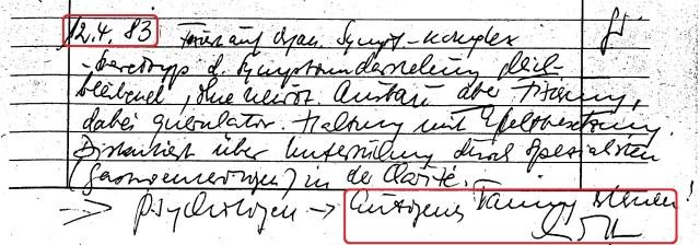 Zersetzung von Adam Lauks 1983.04.12.1