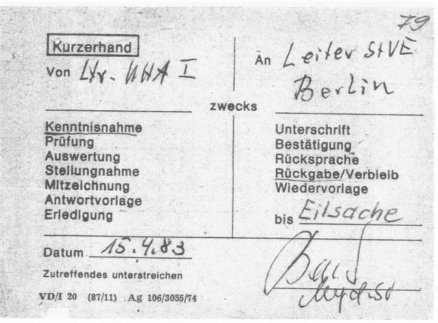 Zersetzung von Adam Lauks 1983.04.15.