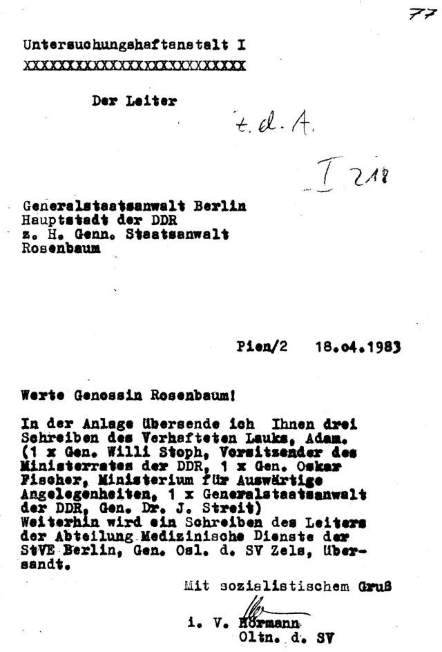 Zersetzung von Adam Lauks 1983.04.18.2