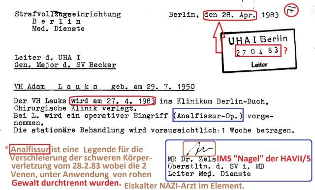 Zersetzung von Adam Lauks 1983.04.28.