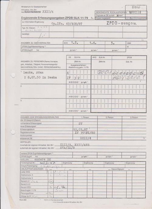 Ergänzende Erfassungsangaben ZPDB/SLK/11/79