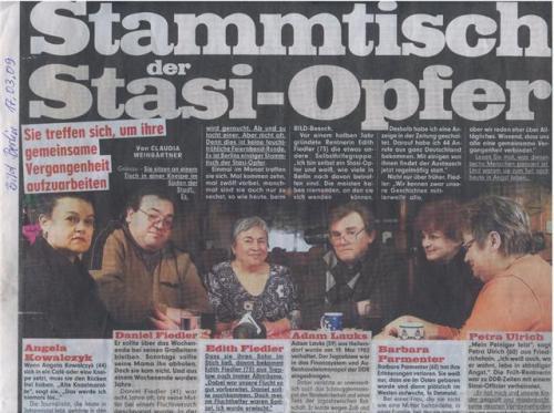 Die Opfer der STASI zum STAMMTISCH degradiert entehrt, verleumdet, entwürdigt!