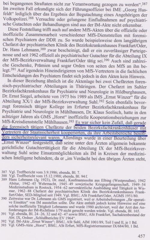 Dr.Dietrich Koch berichtete aus der Forensik von Waldheim über einen Arzt...
