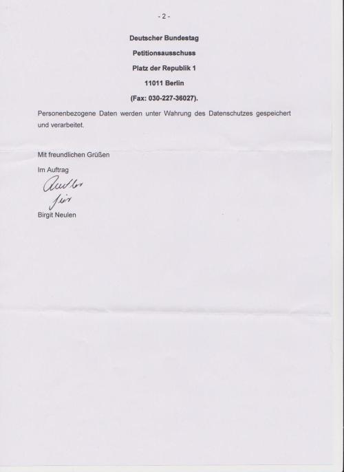 Dank, Respekt und Ehre des Deutschen Bürger Adam Lauks