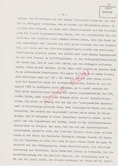 Nach der OP entzog Hauptmann Hofmann Stationsarzt den Laxan-Weichmacher