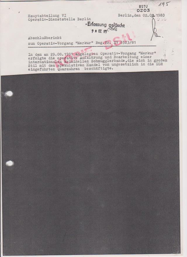 Gauck - Jahn Behörden schützen das MfS vor Enttarnung 001