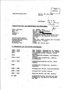 GVS B Kader des MfS in der Spitze der Deutschen Strafrechtwissenschaftler