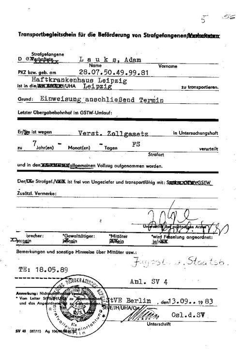Als Folge der Gewaltnotoperation kam eine Spirale von Diagnosen mit unabsehbaren Folgen. Ich musste aus Berlin verschwinden. Abschirmung total !