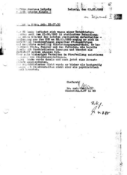 Gegen Lauks wurde damals und auch jetzt  eine Arreststrafe ausgesprochen. Aus psychiatrischer Sicht wurde er bisher  als hochgradig abnorm mit Zweckverhalten nicht aber als psychiatrisch krank bewertet.