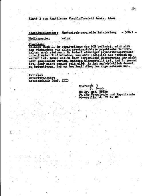 Der Krieg war im Gange ! IME GEORG HUSFELD - Alias ChA Rogge  machte seine Hausaufgaben gut... und wurde dafür  1986 oder 1987 nach Berlin befördert...