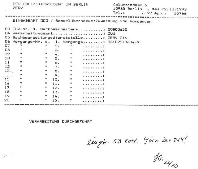 30 Js 1792 93 Ermittlungsverfahren der Staatsanwaltschaft II Bln 011